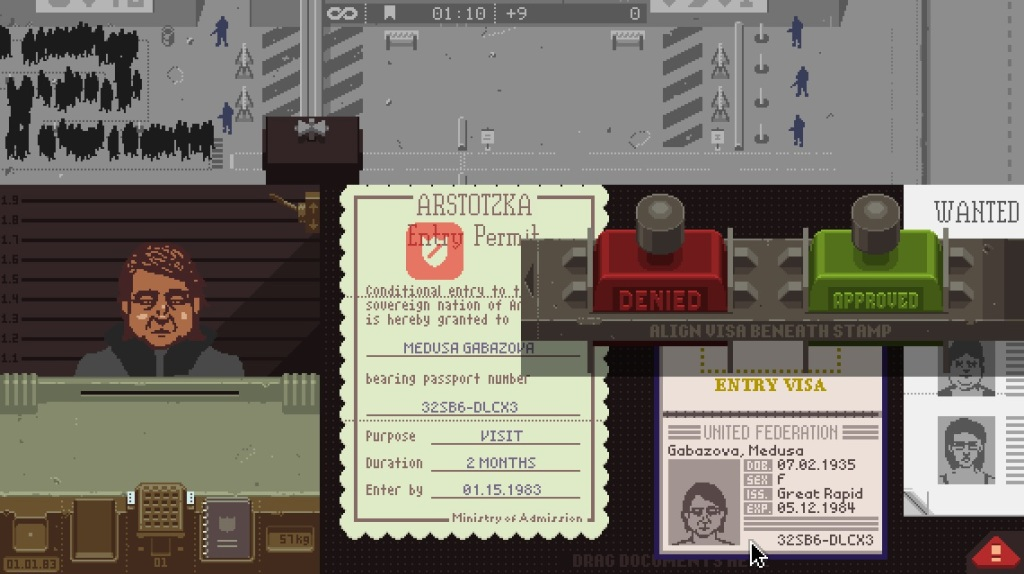 Papers, Please - Red Stamp Or Green Stamp