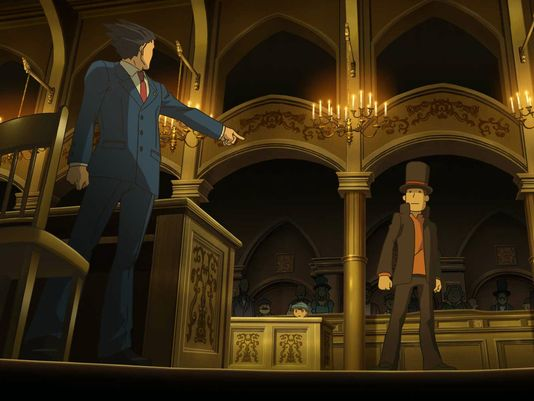 Professor Layton vs. Phoenix Wright Ace Attorney - Court