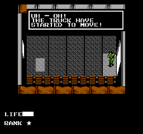 Metal Gear NES - Uh Oh! The Truck Have Started to Move