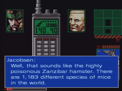 Metal Gear 2 - Deadly Poisonous Zanzibar Hamsters (Not a Photoshop)