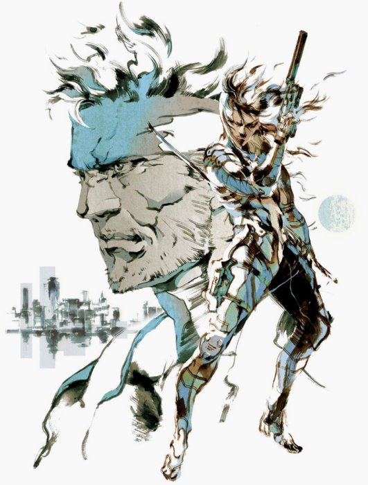 Metal Gear Solid 2 - Snake and Raiden