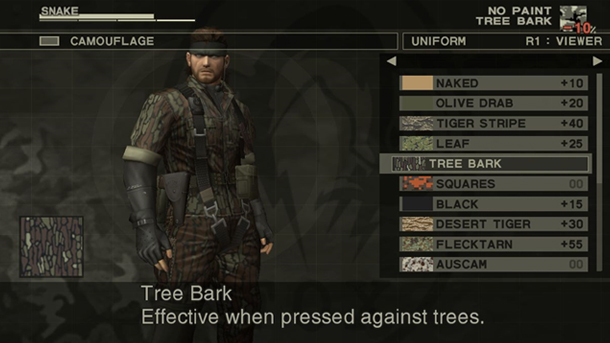 Metal Gear Solid 3 - Camouflage