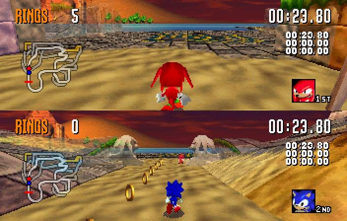 Sonic R - Multiplayer