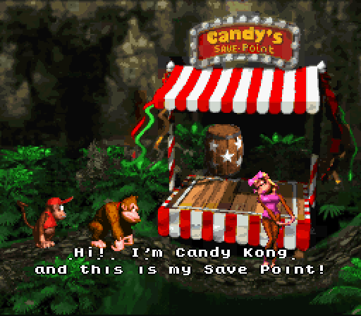 Donkey Kong Country - Candy's Save Point