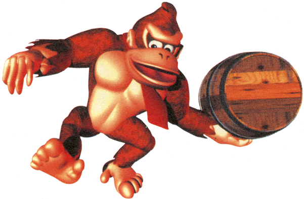Donkey Kong Country - DK with Barrel