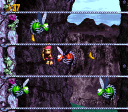Donkey Kong Country 3 - Cliffside