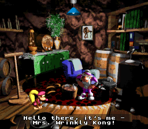Donkey Kong Country 3 - Save Cave