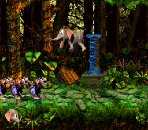 Donkey Kong Country 3 - Stampede Sprint